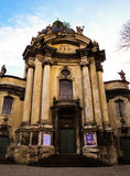 Cathédrale de Dominicain de Lviv Images stock