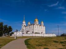 Cathédrale de Dormition dans Vladimir, vue générale Photographie stock libre de droits