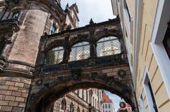 Cathédrale de Dresde de la trinité sainte ou du Hofkirche, château de Dresde à Dresde, Saxe, Allemagne Photos libres de droits