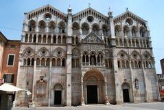 Cathédrale de Ferrare Photo libre de droits