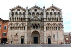 Cathédrale de Ferrare, Italie Photo libre de droits