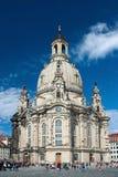 Cathédrale de Frauenkirche à Dresde Image libre de droits