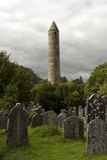 Cathédrale de Glendalough et tour ronde, Irlande Photos libres de droits