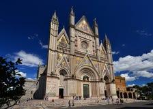 Cathédrale de gothci d'Orvieto image libre de droits
