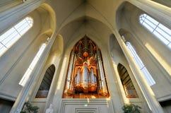 Cathédrale de Hallgrimskirkja à Reykjavik, Islande photographie stock libre de droits