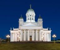 Cathédrale de Helsinki, Finlande, la nuit photo libre de droits