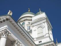 Cathédrale de Helsinki sur la place de sénat à Helsinki, Finlande photos libres de droits