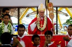 Cathédrale de Josephs de saint dans le cuisinier Islands de Rarotonga Photos libres de droits