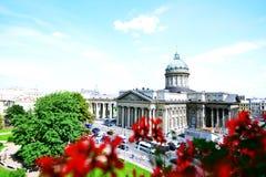 Cathédrale de Kazan à St Petersburg photos libres de droits