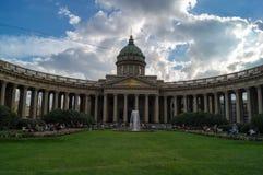 Cathédrale de Kazan dans le St Petersbourg Photographie stock libre de droits