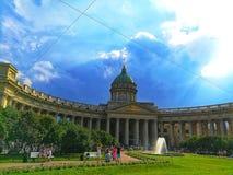 Cathédrale de Kazan dans le St Petersbourg photos libres de droits