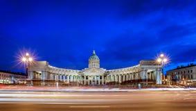 Cathédrale de Kazan, St Petersbourg image stock