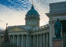 Cathédrale de Kazan Une des plus grandes églises de St Petersburg Photos libres de droits