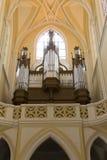 Cathédrale de l'acceptation de notre Madame - organe de tuyau photos stock