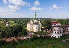 Cathédrale de l'ascension du seigneur Monastère de Spaso-Sumorin Totma La Russie Russie Vue de ci-avant images stock