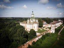 Cathédrale de l'ascension du seigneur Monastère de Spaso-Sumorin Totma La Russie Russie Vue de ci-avant photo libre de droits