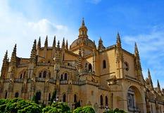 Cathédrale de l'Espagne Ségovie Photos libres de droits