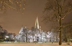 Cathédrale de l'hiver Photo stock