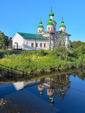 Cathédrale de l'icône de Smolensk de la mère de Dieu dans Olonets Images libres de droits