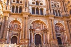 Cathédrale de l'incarnation à Malaga, Espagne image libre de droits