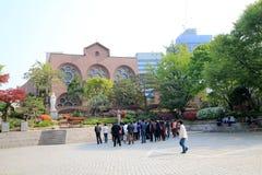 Cathédrale de la Corée du Sud Myeongdong à Séoul Photos libres de droits
