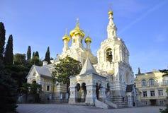 Cathédrale de la Crimée Yalta-Alexandre Nevsky visitant le pays l'architecture Photographie stock libre de droits