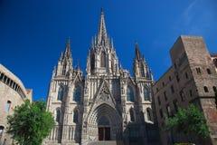 Cathédrale de la croix et du saint saints Eulalia Photos stock