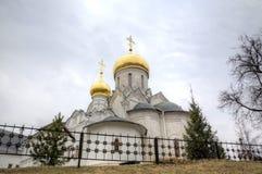 Cathédrale de la nativité de la Vierge Monastère de Savvino-Storozhevsky Zvenigorod, Russie photographie stock libre de droits