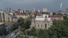 Cathédrale de la nativité de la Vierge bénie à Batumi banque de vidéos