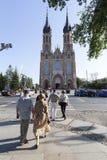 Cathédrale de la protection de Vierge Marie béni à Radom, Image stock
