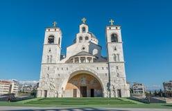 Cathédrale de la résurrection du Christ à Podgorica, Monténégro photo libre de droits