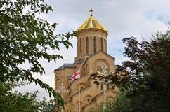 Cathédrale de la trinité sainte à Tbilisi, la Géorgie Photos stock
