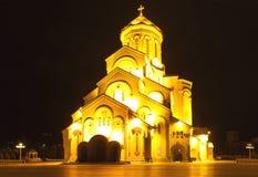 Cathédrale de la trinité sainte Tbilisi, la Géorgie Photographie stock