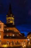 Cathédrale de Luthérien de Sibiu image libre de droits