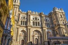 Cathédrale de Malaga Photographie stock