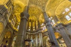 Cathédrale de Malaga, dans AndalucÃa, l'Espagne Photographie stock libre de droits