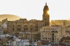 Cathédrale de Malaga, Espagne Photos libres de droits