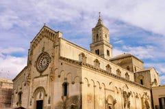 Cathédrale de Matera Photo stock