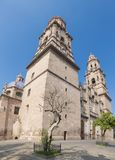 Cathédrale de Morelia central colonial michoacan image stock