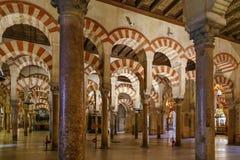 Cathédrale de mosquée de Cordoue, Espagne Images libres de droits