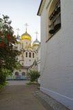 Cathédrale de nativité de Mary dans le couvent de conception dans des WI de Moscou Photos libres de droits