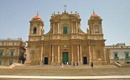 Cathédrale de Noto - la Sicile images stock