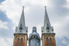 Cathédrale de Notre Dame à Ho Chi Minh Ville, Vietnam Images libres de droits