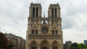 cathédrale de Notre Dame De Paris, France, timelapse, bourdonnement, 4k clips vidéos