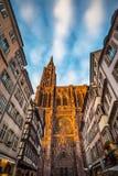 Cathédrale de notre Madame de Strasbourg, Alsace, France Image stock