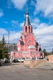 Cathédrale de nouveaux martyres et confesseurs de la Russie, ville de Rzhev, région de Tver Photographie stock libre de droits