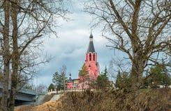 Cathédrale de nouveaux martyres et confesseurs de la Russie, ville de Rzhev, région de Tver Photographie stock