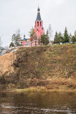 Cathédrale de nouveaux martyres et confesseurs de la Russie, ville de Rzhev, région de Tver Photos stock