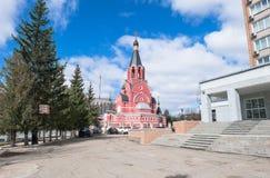 Cathédrale de nouveaux martyres et confesseurs de la Russie, ville de Rzhev, région de Tver Images stock