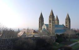 Cathédrale de Pech (Pécs) en Hongrie Photos stock